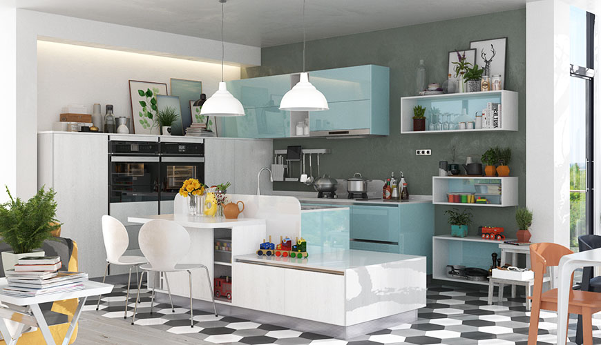 High Gloss Kitchen Cabinets Pros And